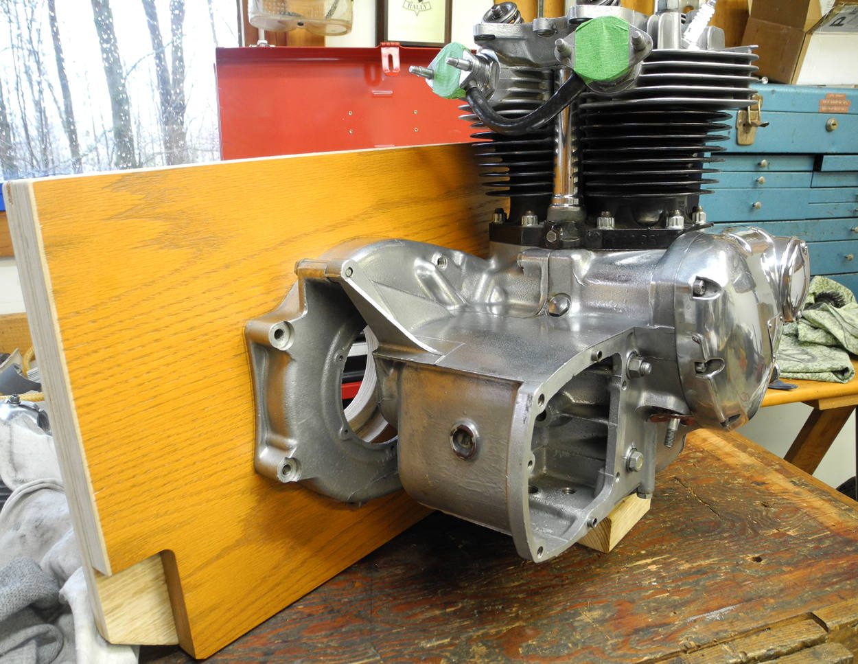 Engine base for a Triumph 650 Engine