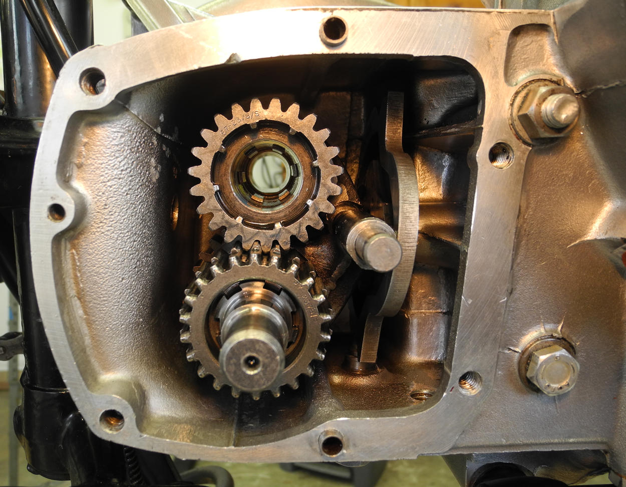 Triumph gear box