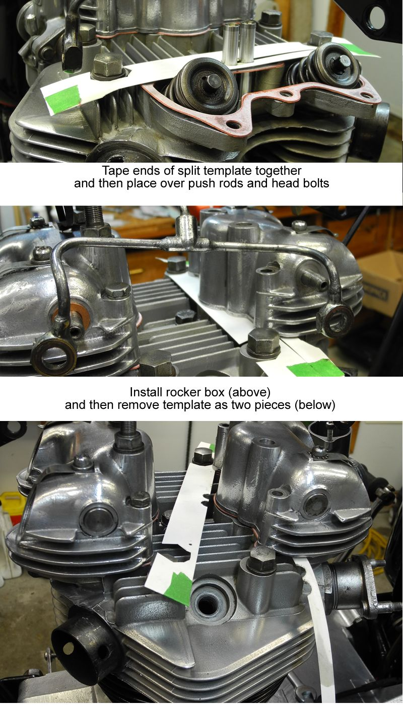 Photo of Triumph pushrod installation